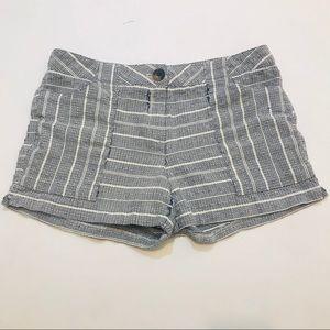 CYNTHIA ROWLEY Tweed texture shorts Blue/white 10